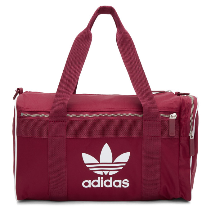 ADIDAS ORIGINALS. Adidas Originals Burgundy Medium Duffle Bag ... 4ff50905a46c1