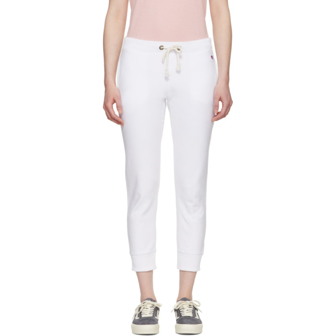 White Small Logo Lounge Pants CHAMPION REVERSE WEAVE