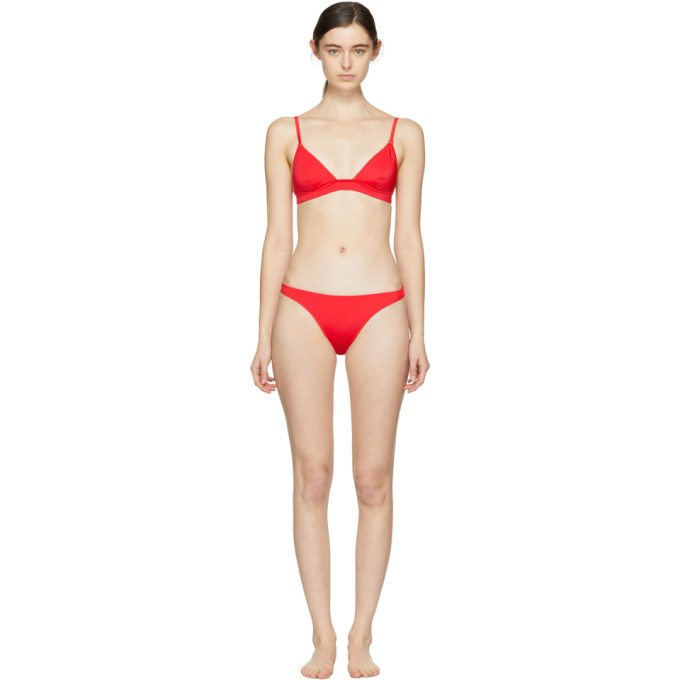 Solid & Striped  SOLID AND STRIPED SSENSE EXCLUSIVE RED THE MORGAN TOP AND THE LILI BOTTOM BIKINI