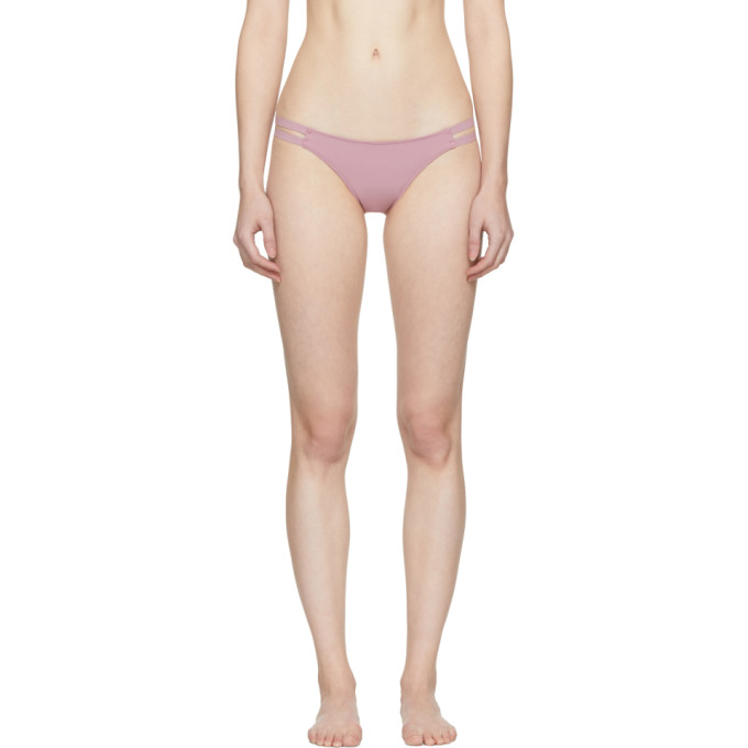 WARD WHILLAS Ward Whillas Pink Carmen Bikini Bottoms in Dusty Pink