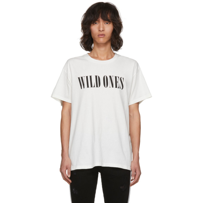Amiri  AMIRI WHITE WILD ONES T-SHIRT