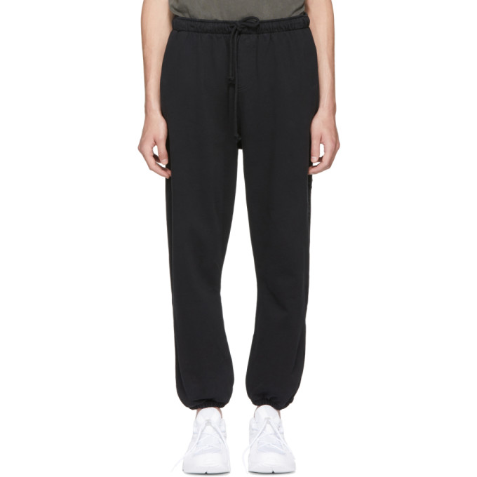 SECOND/LAYER BLACK SCRIPT LOGO LOUNGE PANTS
