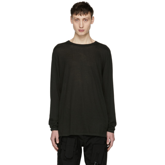 NONNATIVE Nonnative Grey Manager Sweater in 655 Anthrac