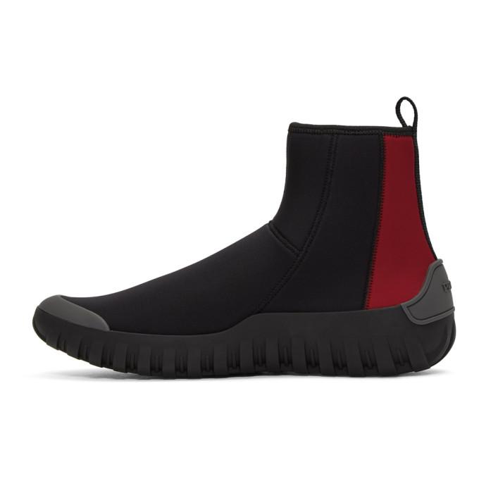 sock high-top sneakers - Black Prada