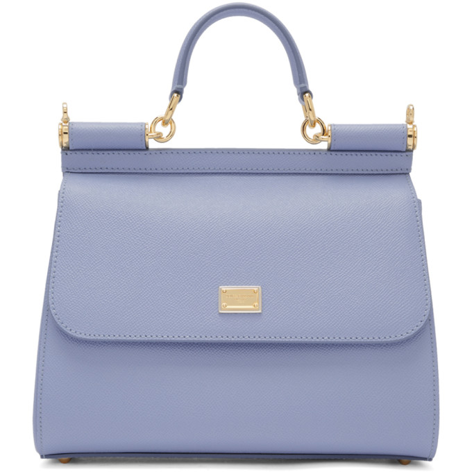 DOLCE AND GABBANA BLUE MEDIUM MISS SICILY BAG
