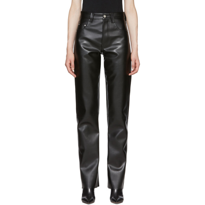 KWAIDAN EDITIONS FAUX LEATHER MOTO PANTS