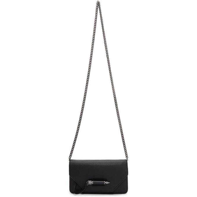 Mini Zoey Leather Crossbody Bag - Black