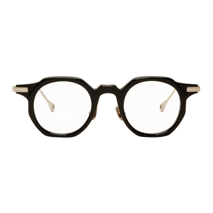 NATIVE SONS Native Sons Black And Gold Bradbury Glasses in Black/16K