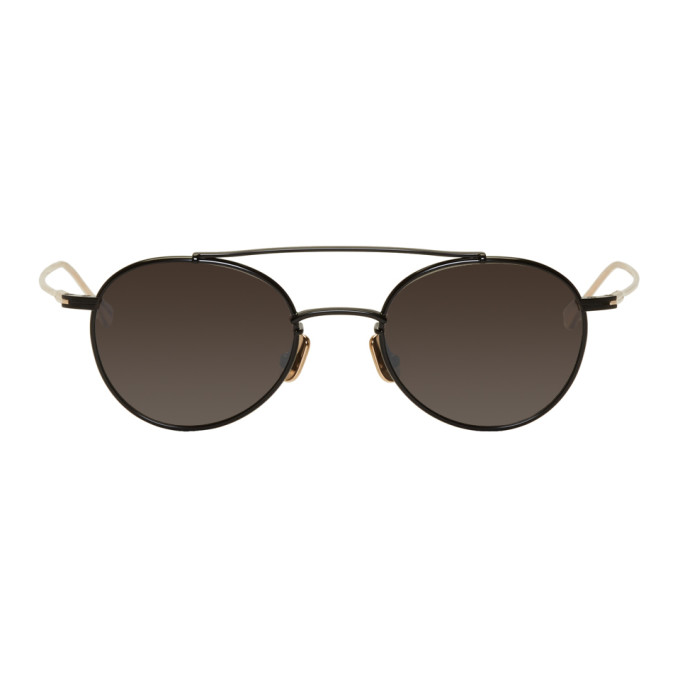 NATIVE SONS Native Sons Black And Gold Mr. Mojo Sunglasses in Blackgold