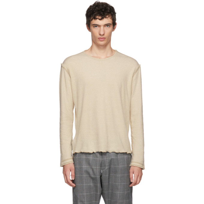 SULVAM Sulvam Beige Long Sleeve T-Shirt