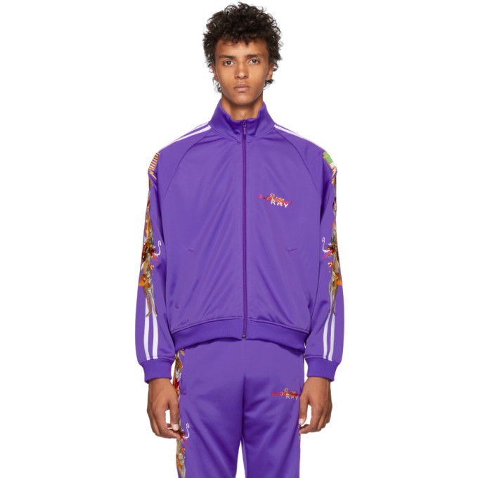 DOUBLET PURPLE CHAOS EMBROIDERY TRACK JACKET