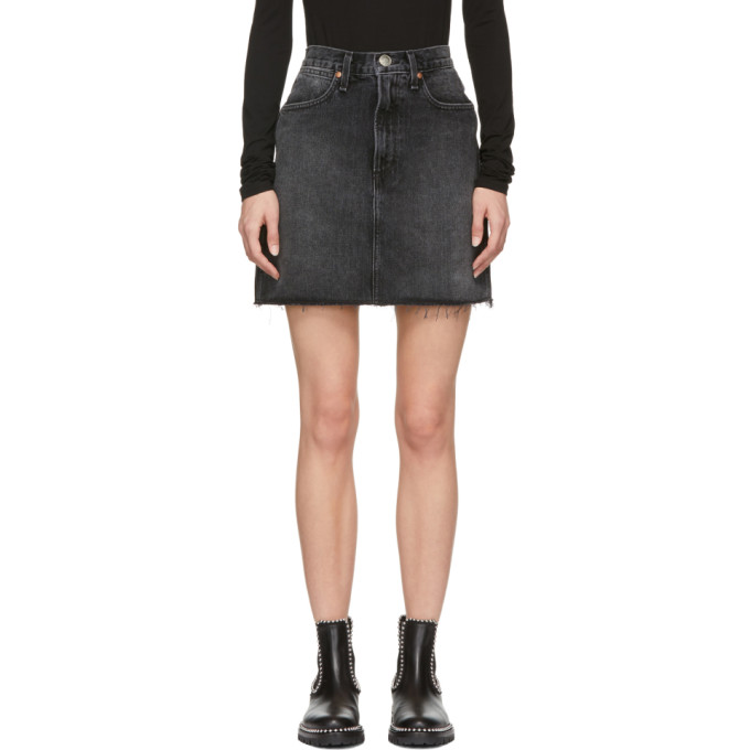 Black Moss Miniskirt by Rag & Bone