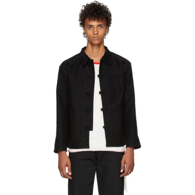 KOZABURO Kozaburo Black Moleskin Work Jacket