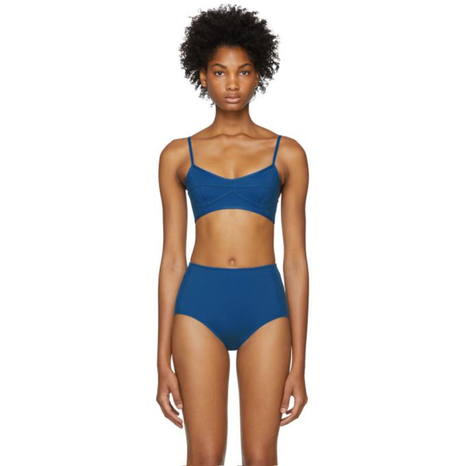 HER LINE Her Line Blue Suzy Bikini Top in True Blue