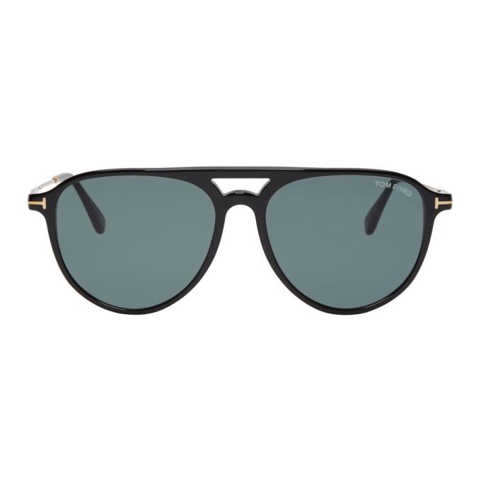 TOM FORD Black & Gold Carlo-02 Sunglasses