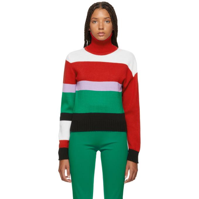 ANTON BELINSKIY Anton Belinskiy Multicolor Striped Sweater in Red