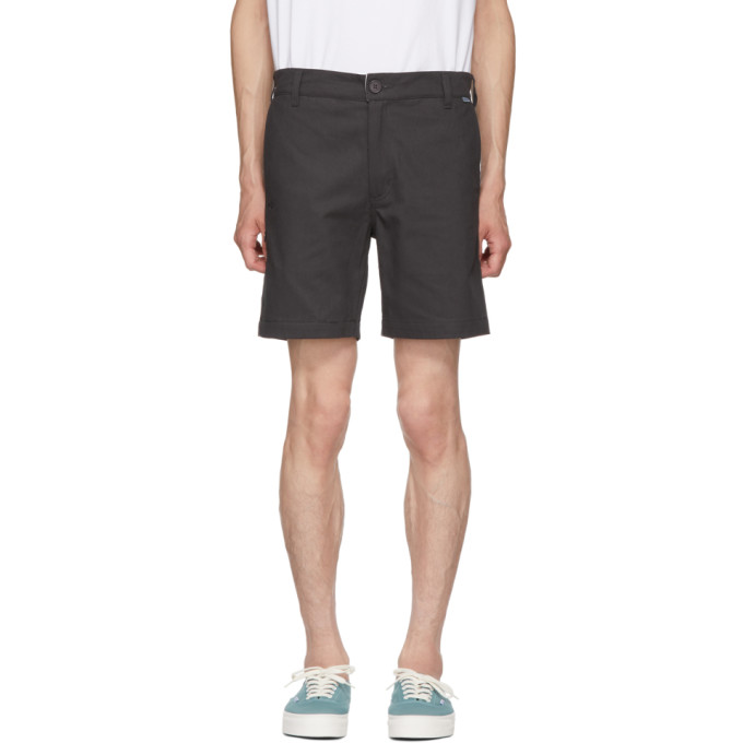 DICKIES CONSTRUCT BLACK STRAIGHT SLIM SHORTS