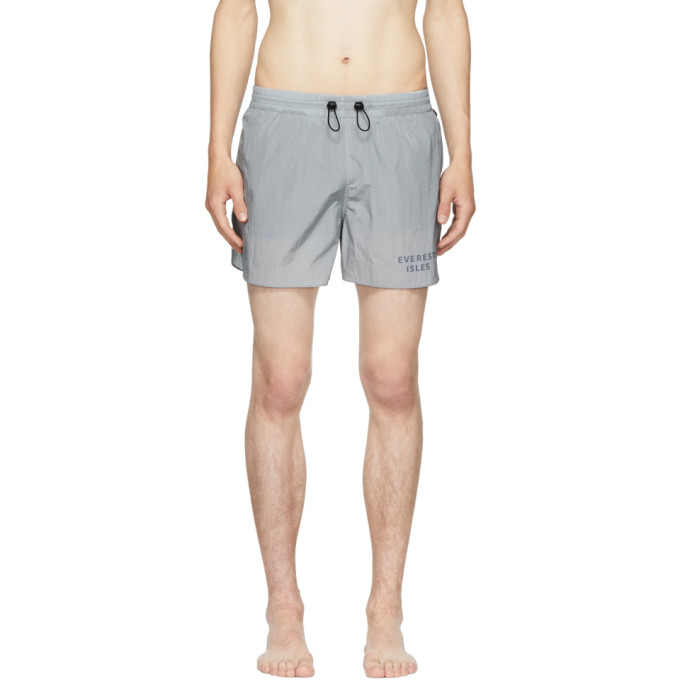 EVEREST ISLES GREY RUNNER 01 SWIM SHORTS
