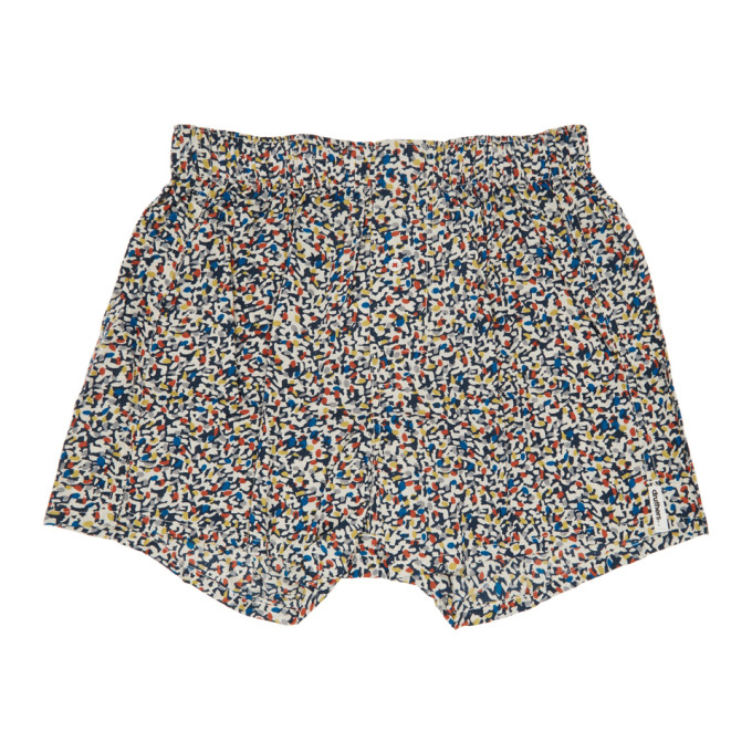 DRUTHERS Druthers Multicolor Mondrian Patterned Boxers