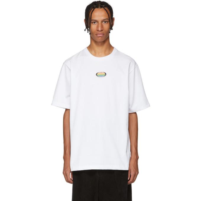 XANDER ZHOU Xander Zhou White Jersey Chest Patch T-Shirt