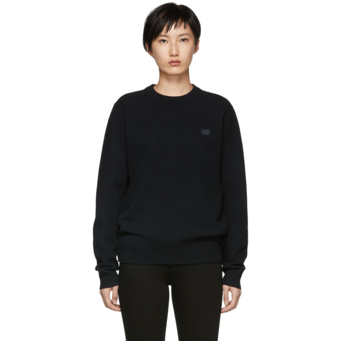 ACNE STUDIOS Black Nalon Face Sweater