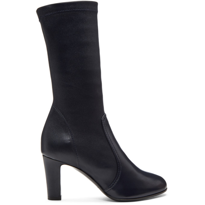 A_PLAN_APPLICATION A-Plan-Application Navy Low Stretch Boots