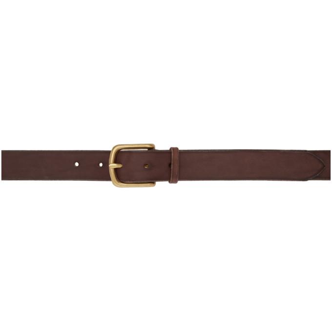 MAXIMUM HENRY Maximum Henry Brown Wide Standard Brass Belt in Dk.Brwn.Brs