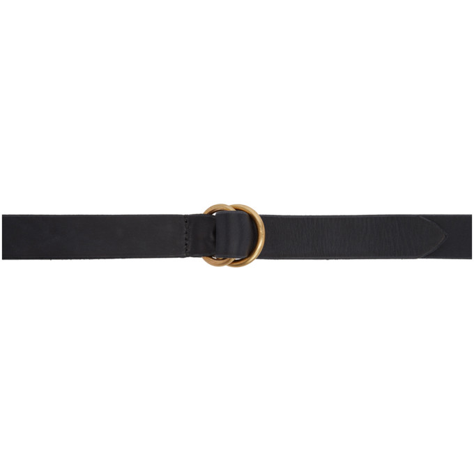 MAXIMUM HENRY BLACK AND GOLD WIDE DOUBLE RING BELT