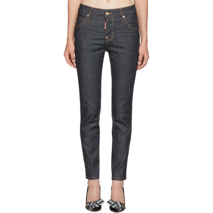 Blue Cool Girl Jeans from SSENSE