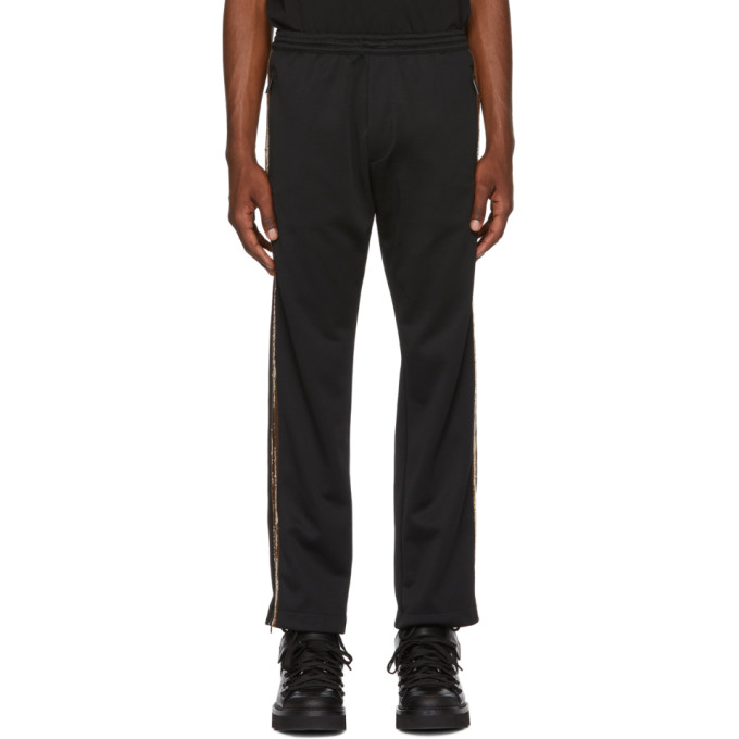 DSQUARED2 BLACK AND GOLD SEQUINNED LOUNGE PANTS
