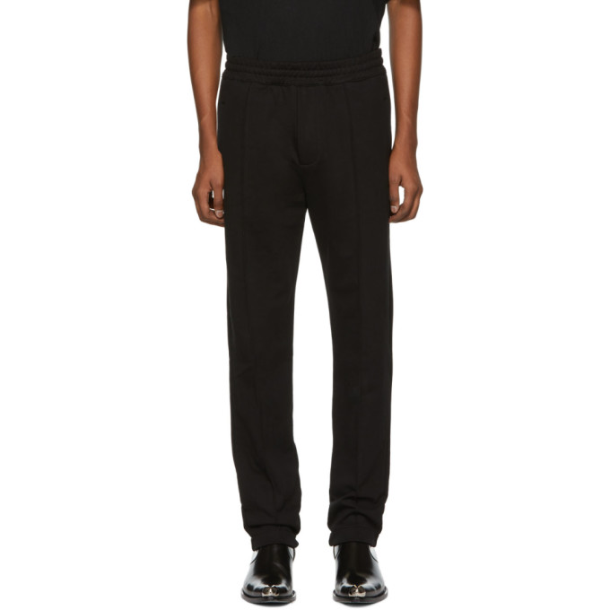 HELMUT LANG BLACK DARTED LEG JOGGER LOUNGE PANTS