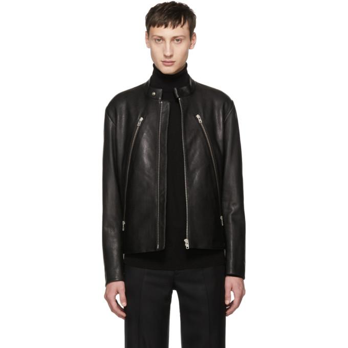 c0ce17821 Black 5-Zip Leather Jacket