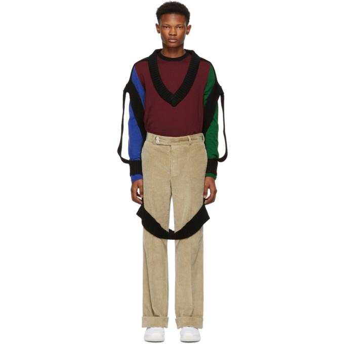 Hasil gambar untuk Black Decortique V-Neck Sweater
