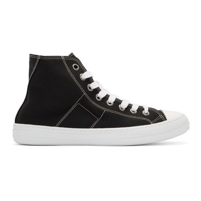 Maison Margiela Stereotype High Top Sneaker, 900 Black