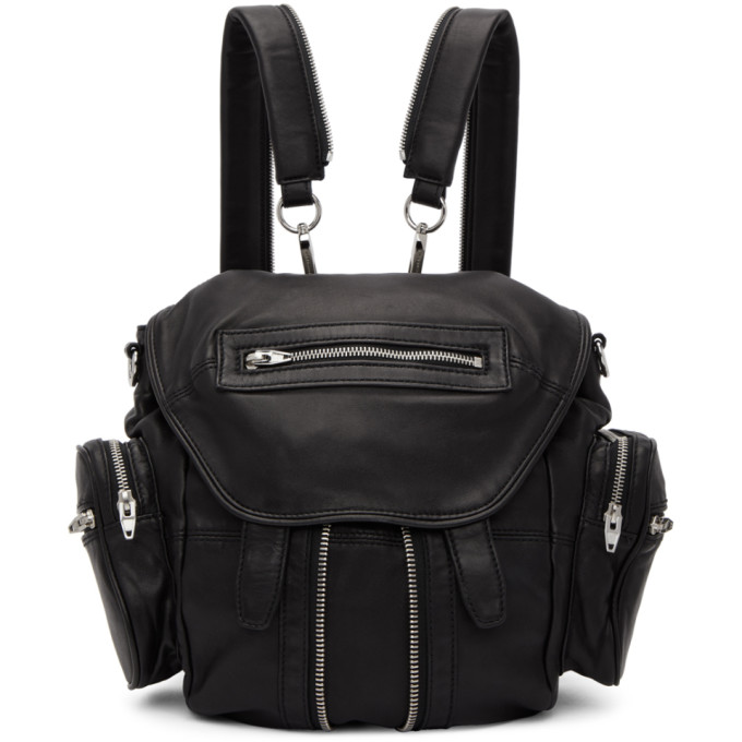 Alexander Wang Black Mini Marti Backpack, 001 Black