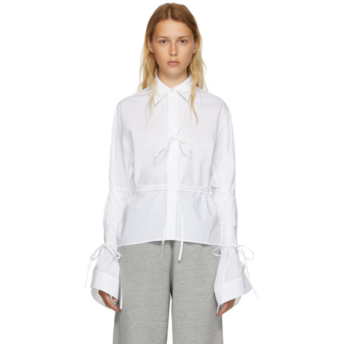 MM6 MAISON MARTIN MARGIELA WHITE STRING SHIRT