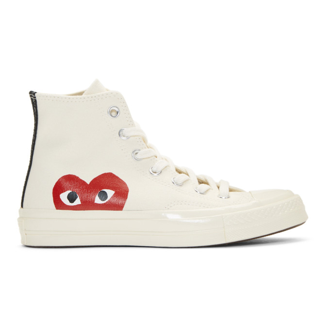 Off White Converse Edition Chuck Taylor All Star '70 High Top Sneakers by Comme Des GarÇons Play