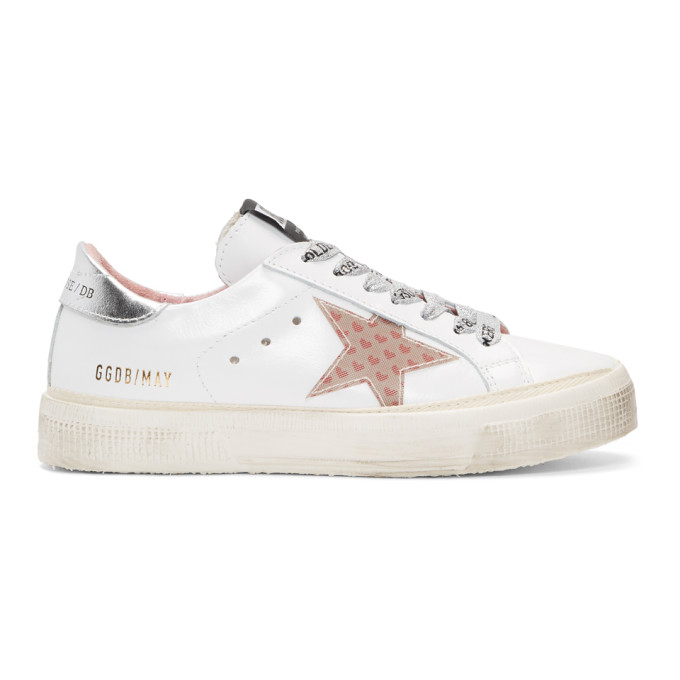 golden goose  white may small heart sneakers f0817e96c35