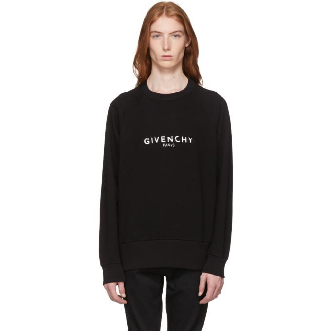 Black Vintage Fit Logo Sweatshirt by Givenchy