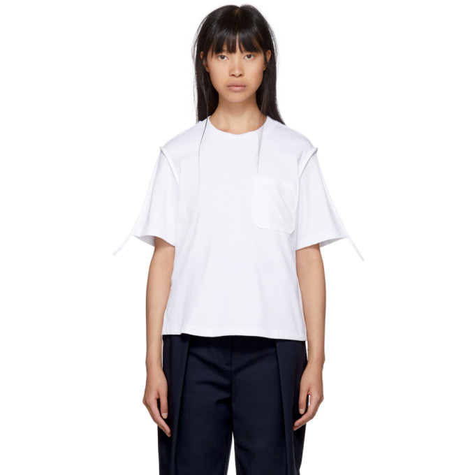 White Patch Pocket T Shirt by 3.1 Phillip Lim