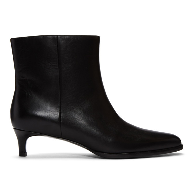 Agatha Patent-Leather Ankle Boots in Ba001 Black