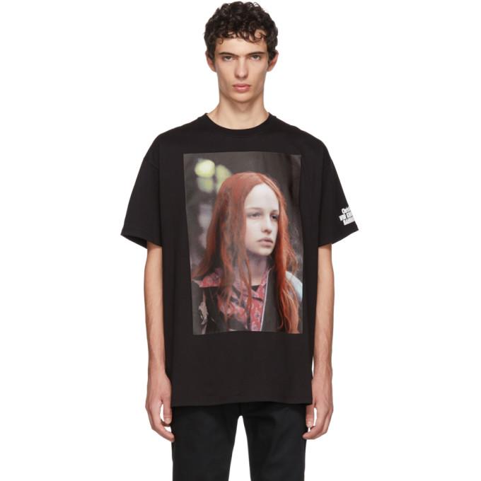RAF SIMONS Christiane F. T-Shirt in Black