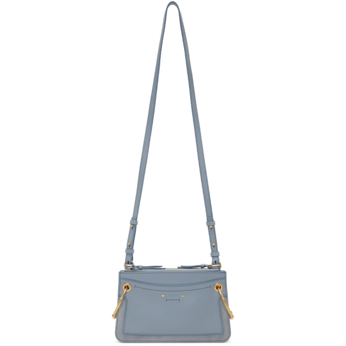 Blue Mini Roy Double Zip Bag
