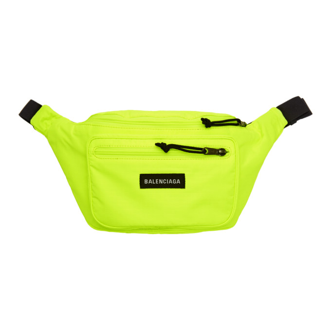 BALENCIAGA Men'S Explorer Canvas Belt Bag, Yellow/Black in Yellow & Orange