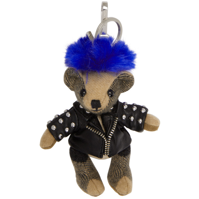 BURBERRY TAN THOMAS PUNK KEYCHAIN