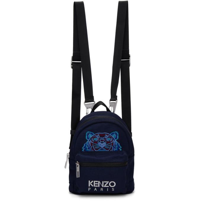 Kenzo Navy Mini Tiger Backpack, 76A Navy