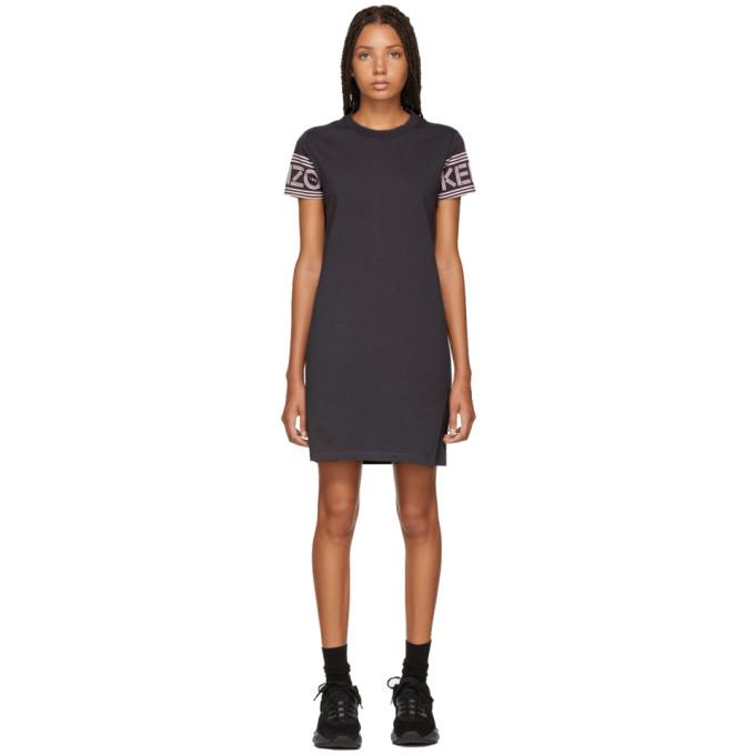 KENZO GREY LOGO SPORT T-SHIRT DRESS