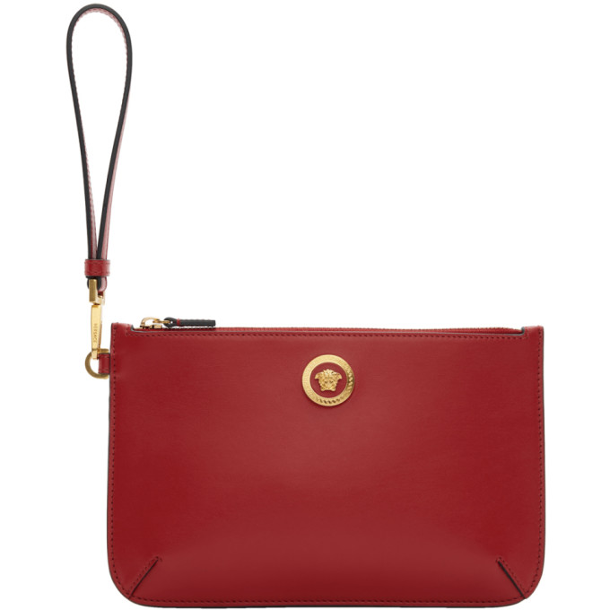 VERSACE RED SMALL MEDUSA POUCH
