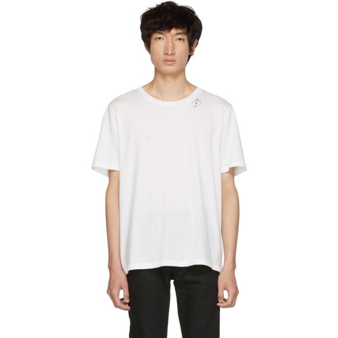 SAINT LAURENT White Cards T-Shirt
