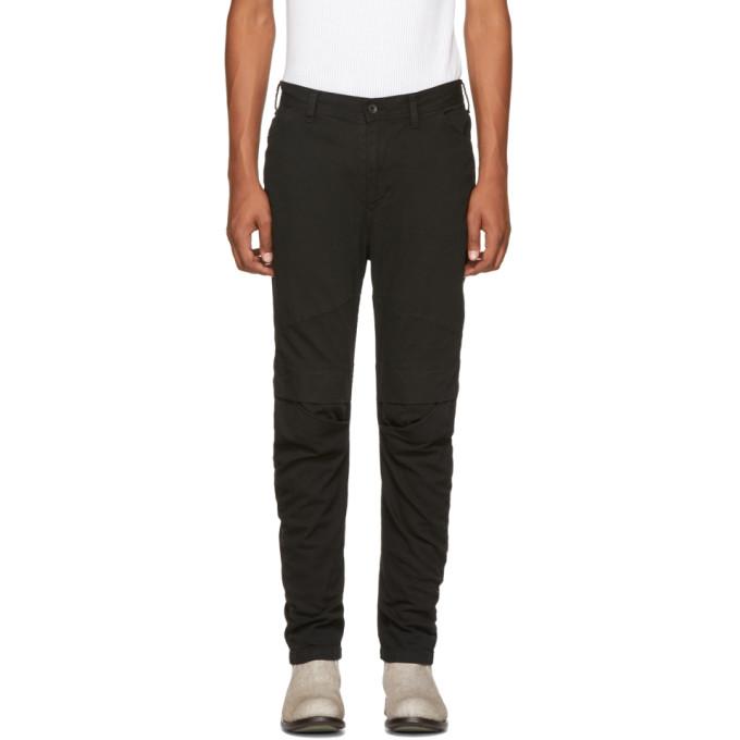 JULIUS Knee-Pocket Skinny Jeans in Black